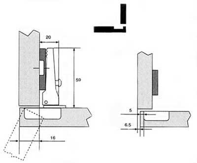 Мебельные петли 4-х шарнирные